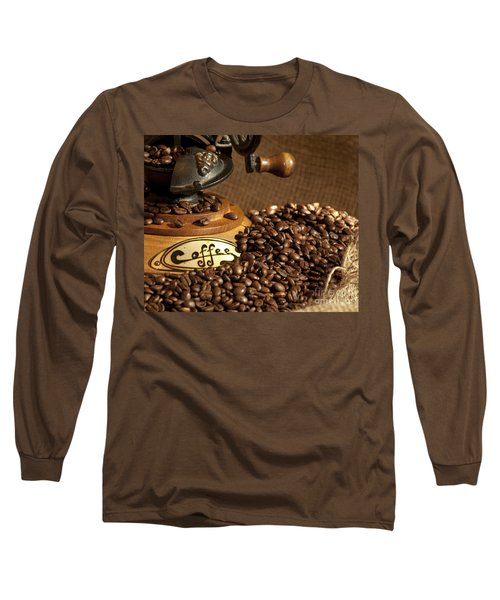 Coffee Grinder With Beans Long Sleeve T-Shirt