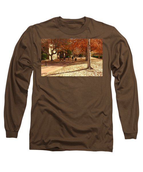 College Of William And  Mary Abstract Long Sleeve T-Shirt by Jacqueline M Lewis