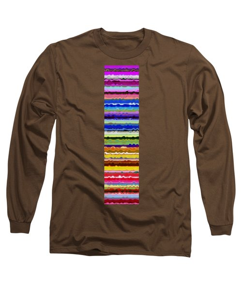 Color Waves No. 5 Long Sleeve T-Shirt