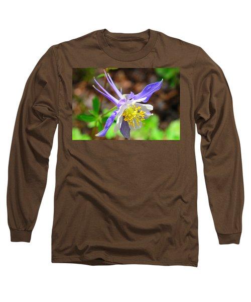 Colorado Blue Columbine Flower Long Sleeve T-Shirt