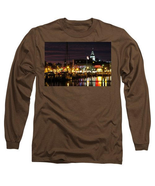 Long Sleeve T-Shirt featuring the photograph Colorful Annapolis Evening by Jennifer Casey