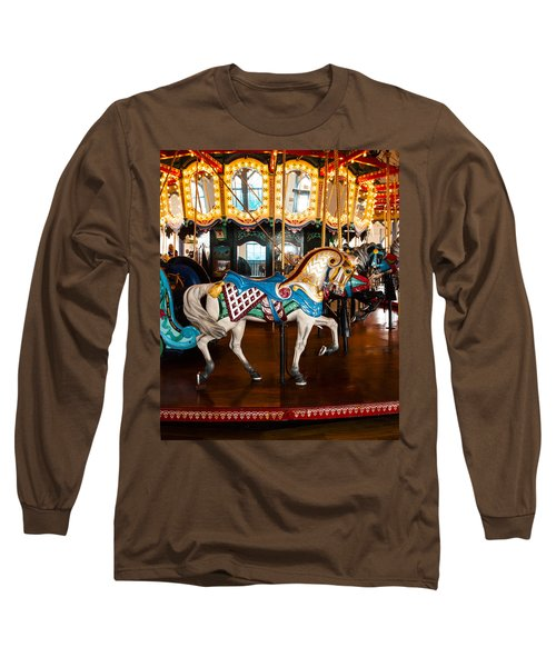 Long Sleeve T-Shirt featuring the photograph Colorful Carousel Horse by Jerry Cowart