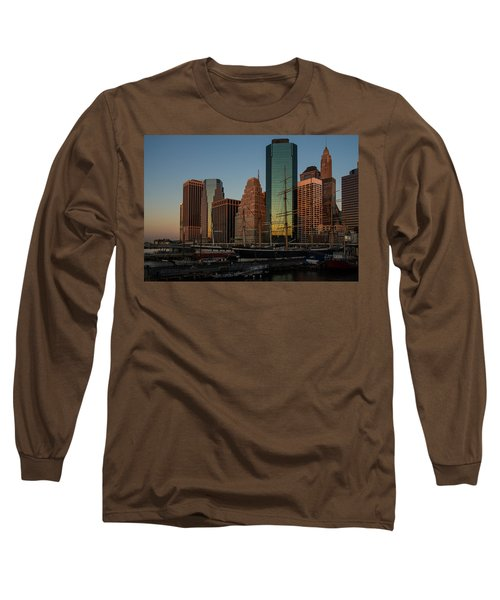 Long Sleeve T-Shirt featuring the photograph Colorful New York  by Georgia Mizuleva
