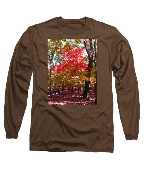 Colorful Woodland Long Sleeve T-Shirt