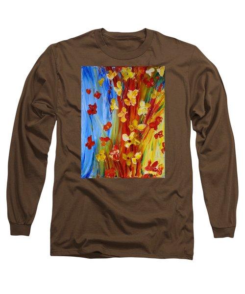 Colorful World Long Sleeve T-Shirt by Teresa Wegrzyn