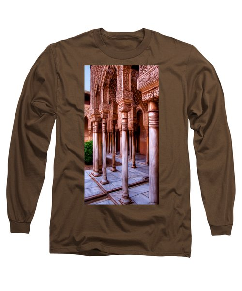 Columns Of The Court Of The Lions - Painting Long Sleeve T-Shirt
