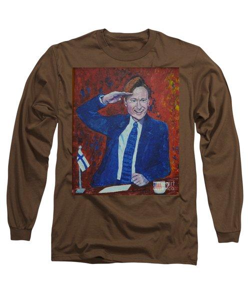 Conan O'brien Flagging Finland Long Sleeve T-Shirt