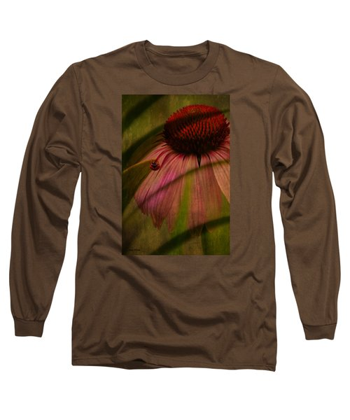 Cone Flower And The Ladybug Long Sleeve T-Shirt by Lesa Fine