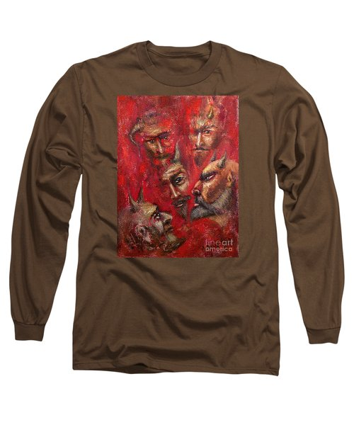 Conspiracy Long Sleeve T-Shirt by Arturas Slapsys