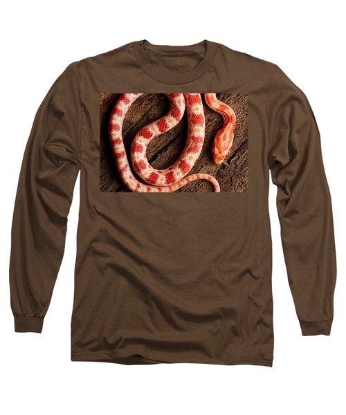 Corn Snake P. Guttatus On Tree Bark Long Sleeve T-Shirt