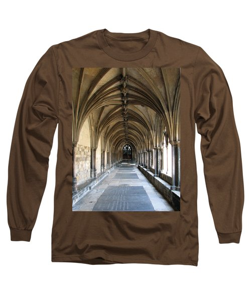 Long Sleeve T-Shirt featuring the photograph Corridor Of Arches by Stephanie Grant
