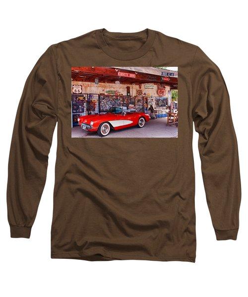 Corvette Drive Rt 66 Long Sleeve T-Shirt