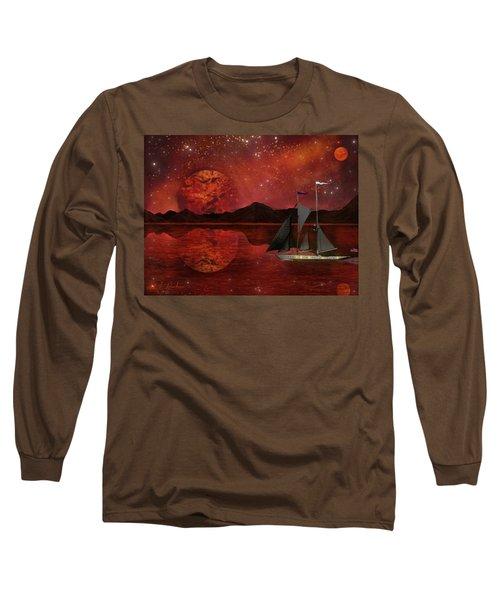 Cosmic Ocean Long Sleeve T-Shirt by Michael Rucker