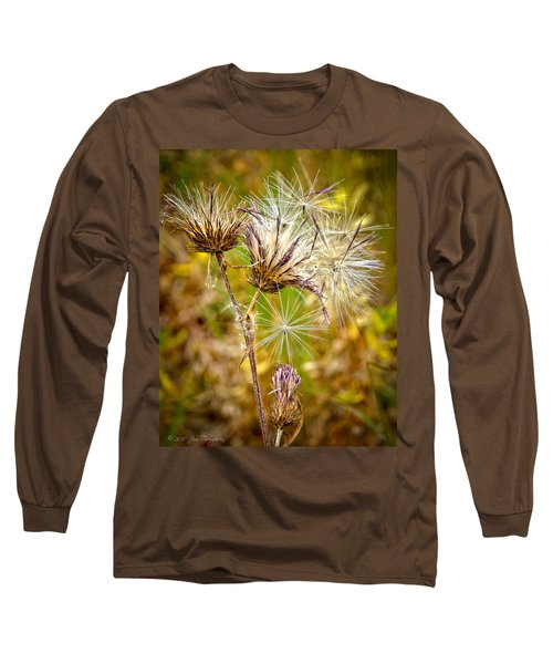 Long Sleeve T-Shirt featuring the photograph Cotten Grass by Jim Thompson