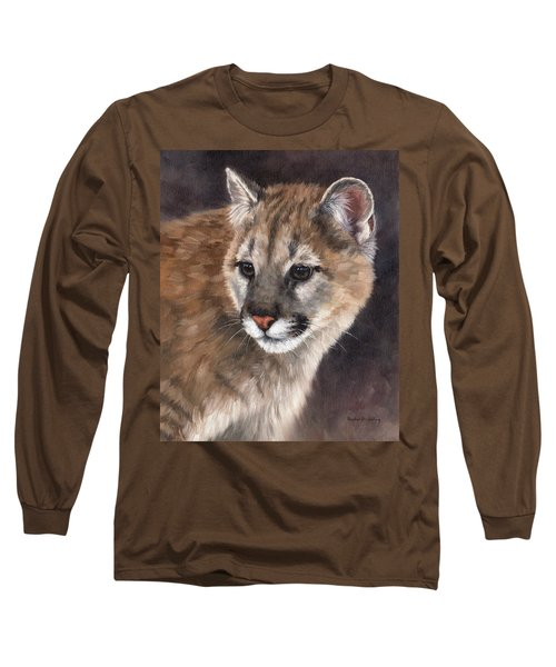 Cougar Cub Painting Long Sleeve T-Shirt