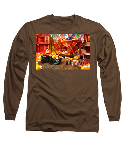 Count And Countess Dracula Inadvertently Took Their Daughters Trick Or Treating At The Van Helsings Long Sleeve T-Shirt by Lon Casler Bixby