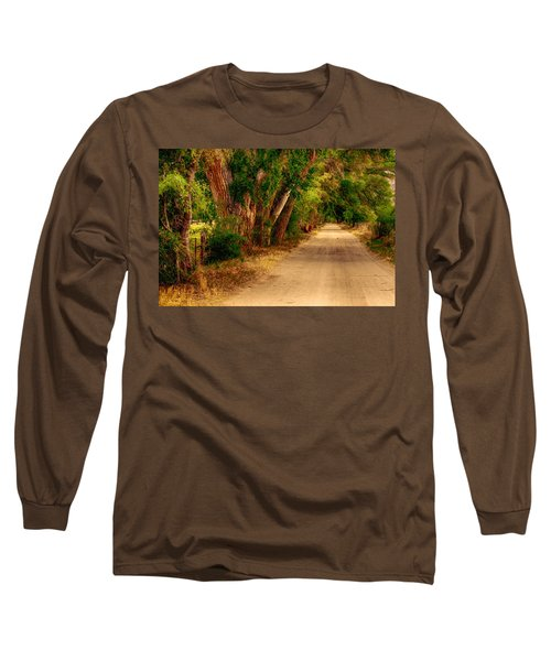 Country Road Long Sleeve T-Shirt by Fred Larson