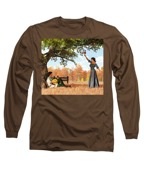 Couple At The Apple Tree Long Sleeve T-Shirt