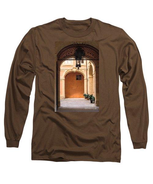 Courtyard Of Siena Long Sleeve T-Shirt
