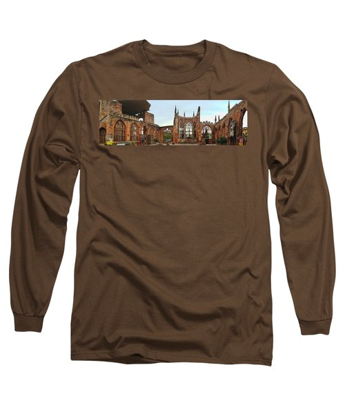 Coventry Cathedral Ruins Panorama Long Sleeve T-Shirt