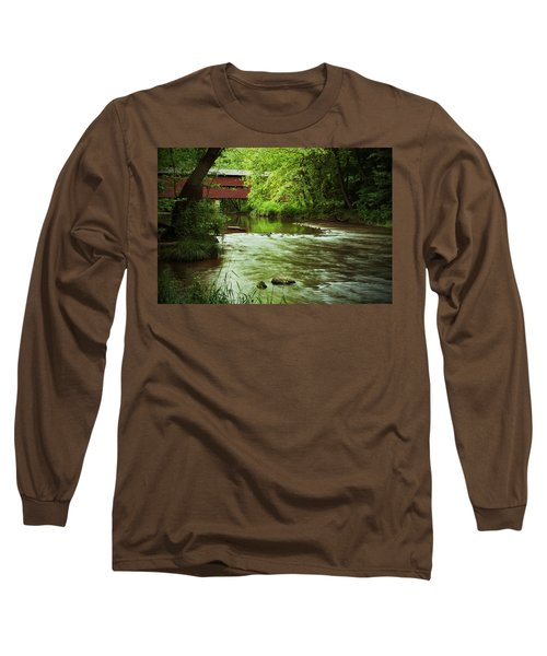 Covered Bridge Over French Creek Long Sleeve T-Shirt