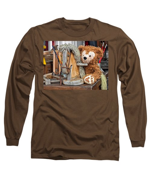 Long Sleeve T-Shirt featuring the photograph Cowboy Bear by Thomas Woolworth