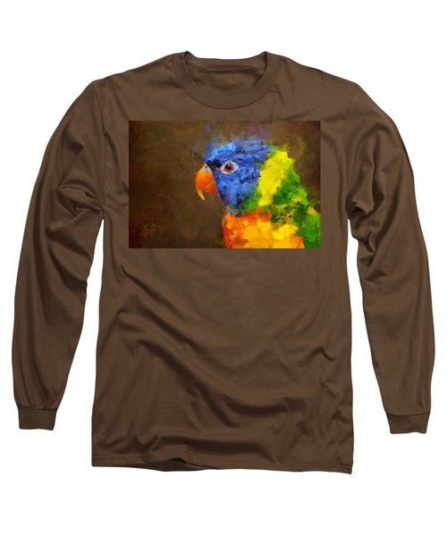 Long Sleeve T-Shirt featuring the painting Crackers by Greg Collins