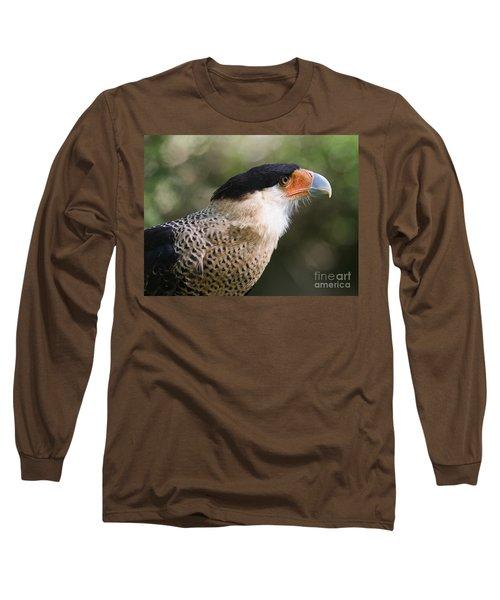 Crested Caracara Bird Of Prey Long Sleeve T-Shirt