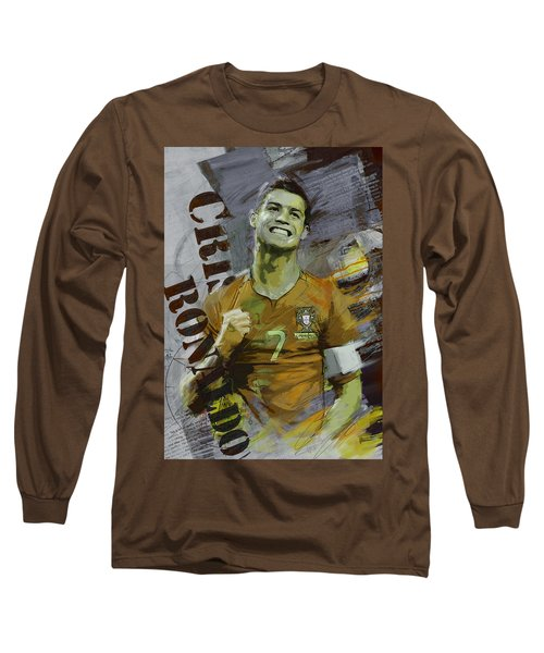 Cristiano Ronaldo Long Sleeve T-Shirt by Corporate Art Task Force