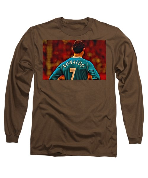 Cristiano Ronaldo Poster Art Long Sleeve T-Shirt