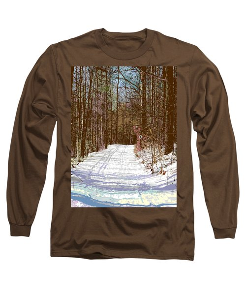 Long Sleeve T-Shirt featuring the photograph Cross Country Trail by Nina Silver