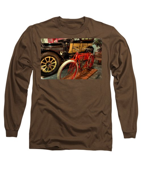 Crouch Motorcycle Long Sleeve T-Shirt