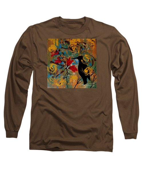 Crow Healing In The Ancient Garden Long Sleeve T-Shirt