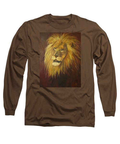 Crown Of Courage,lion Long Sleeve T-Shirt