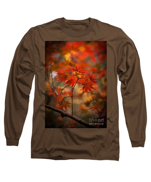 Crown Of Fire Long Sleeve T-Shirt by Mike Reid