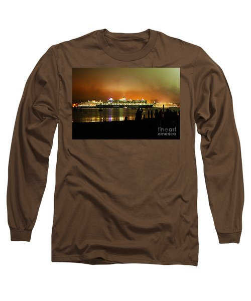 Long Sleeve T-Shirt featuring the photograph Cunard's 3 Queens by Terri Waters