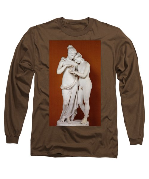 Cupid And Psyche Long Sleeve T-Shirt by Antonio Canova