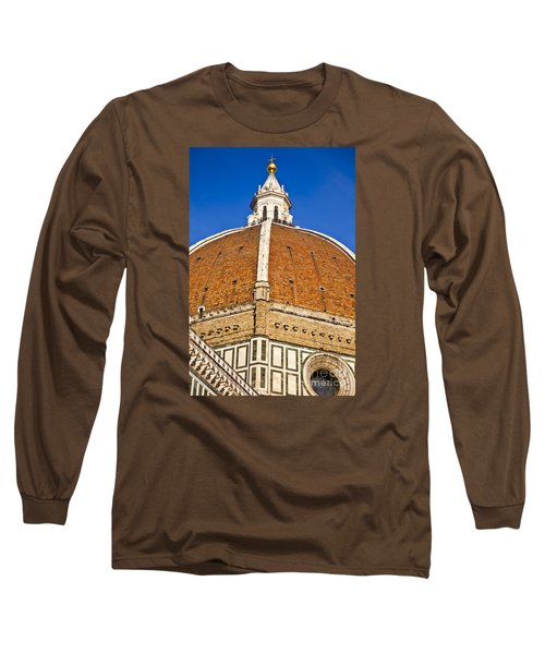 Cupola On Florence Duomo Long Sleeve T-Shirt by Liz Leyden
