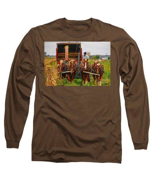 Cutting Silage 2 Long Sleeve T-Shirt