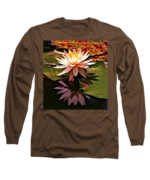 Long Sleeve T-Shirt featuring the photograph Cypress Garden Water Lily by Bill Barber