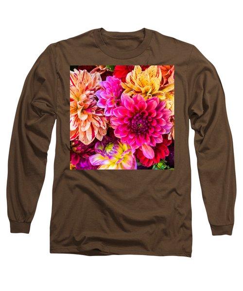 Dahlia Bouquet Number 3 Long Sleeve T-Shirt