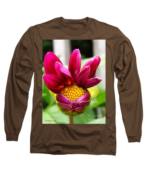 Dahlia From The Showpiece Mix Long Sleeve T-Shirt by J McCombie