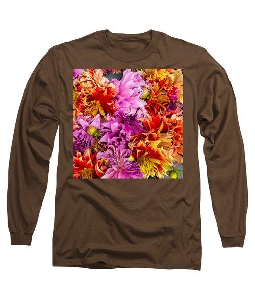 Dahlia Swirl Long Sleeve T-Shirt