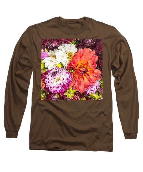 Dahlias Number 4 Long Sleeve T-Shirt