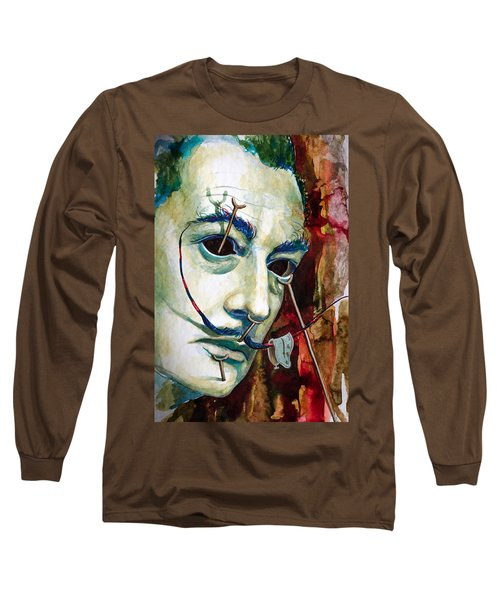 Long Sleeve T-Shirt featuring the painting Dali 2 by Laur Iduc