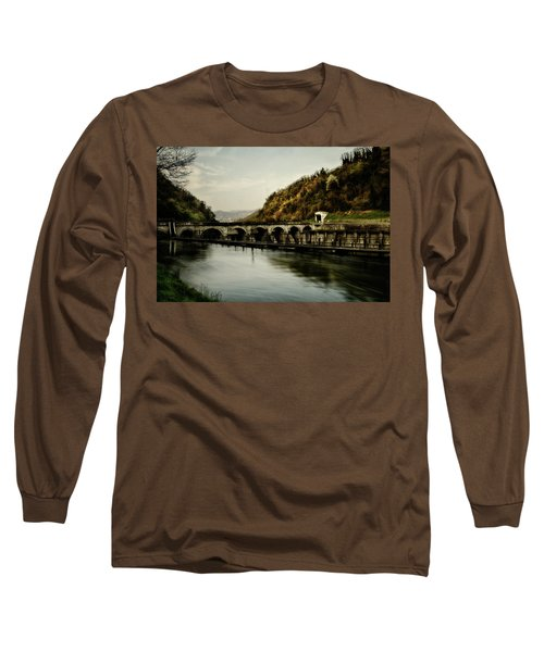 Dam On Adda River Long Sleeve T-Shirt