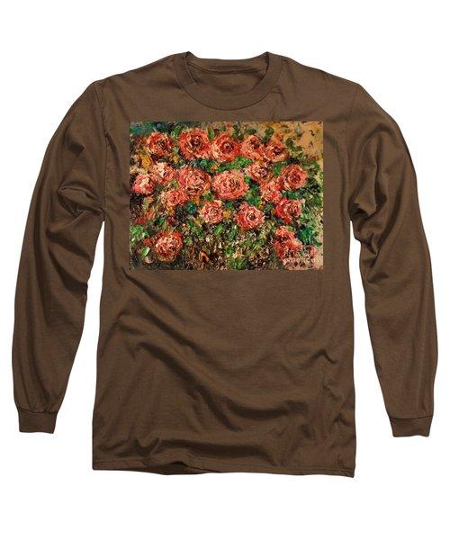 Dancing Red Roses Long Sleeve T-Shirt