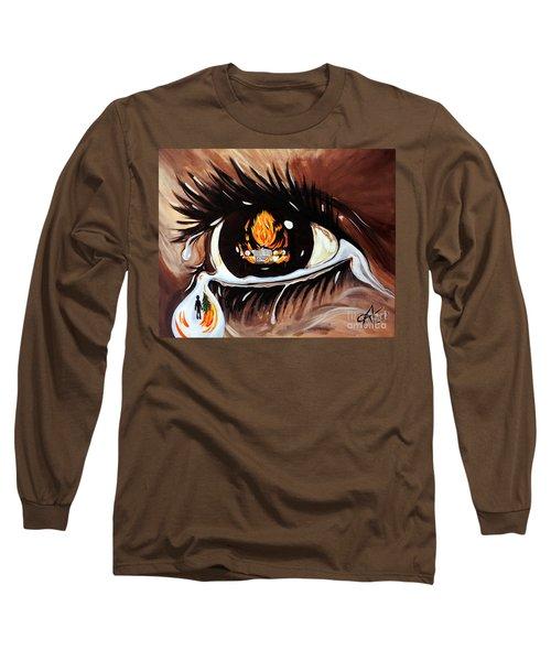 Dark Sorrow  Long Sleeve T-Shirt by Jackie Carpenter
