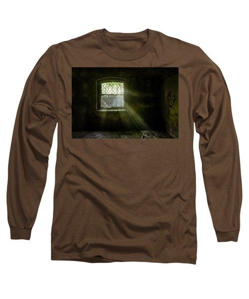 Darkness Revealed - Basement Room Of An Abandoned Asylum Long Sleeve T-Shirt