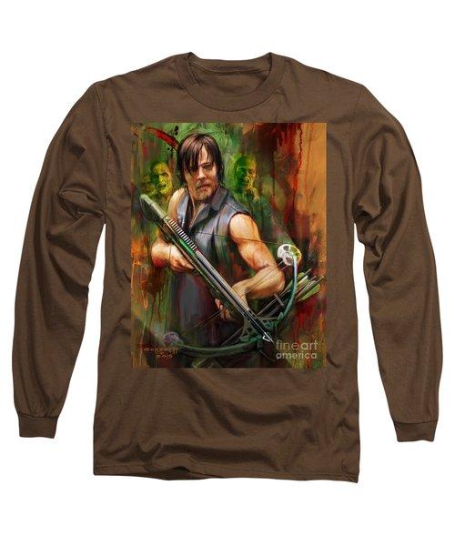 Daryl Dixon Walker Killer Long Sleeve T-Shirt by Rob Corsetti